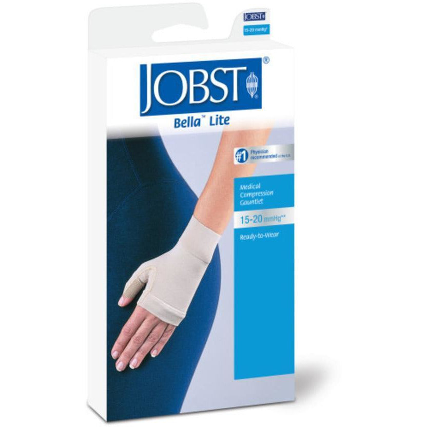 Jobst Bella Lite 15-20 mmHg Combined Armsleeve & Gauntlet w/ Silicone Dot Band
