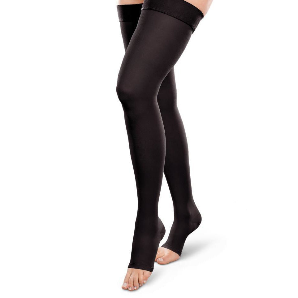 Therafirm Ease Opaque 15-20 mmHg OPEN TOE Thigh High