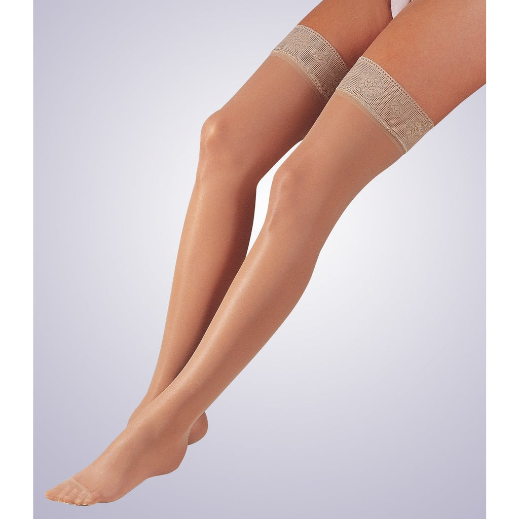 Activa Sheer Therapy Women's 15-20 mmHg Thigh High w/ Silicone Lace Top