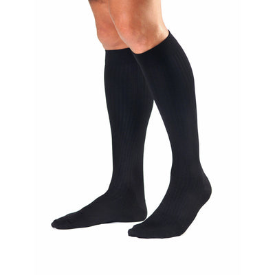 Activa Men's Microfiber Pinstripe 20-30 mmHg Knee High