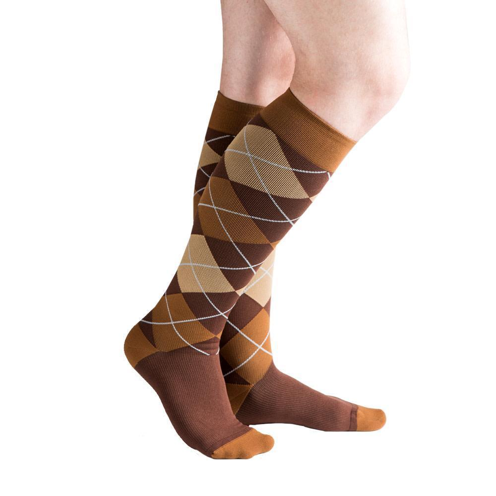 VenaCouture Men's Bold Argyle 15-20 mmHg Compression Sock
