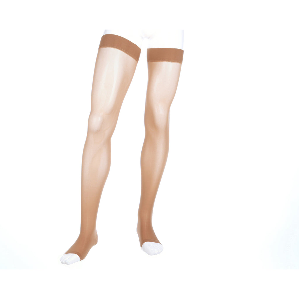 Mediven Assure 20-30 mmHg OPEN TOE Thigh High w/ Silicone Top Band