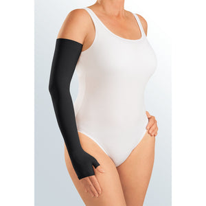 Mediven Harmony 30-40 mmHg Armsleeve w/ Gauntlet and Beaded Silicone Top Band, Black