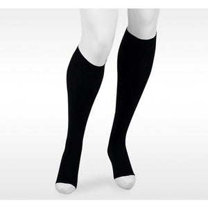 Juzo Assist 20-30 mmHg OPEN TOE Knee High w/Silicone Top Band, Black