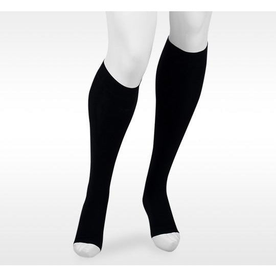 Juzo Assist 30-40 mmHg OPEN TOE Knee High, Black