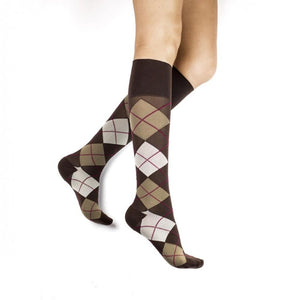 Rejuva Argyle 20-30 mmHg Compression Socks