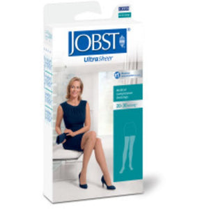 Jobst UltraSheer Women's 20-30 mmHg Thigh High w/ Lace Silicone Top Band