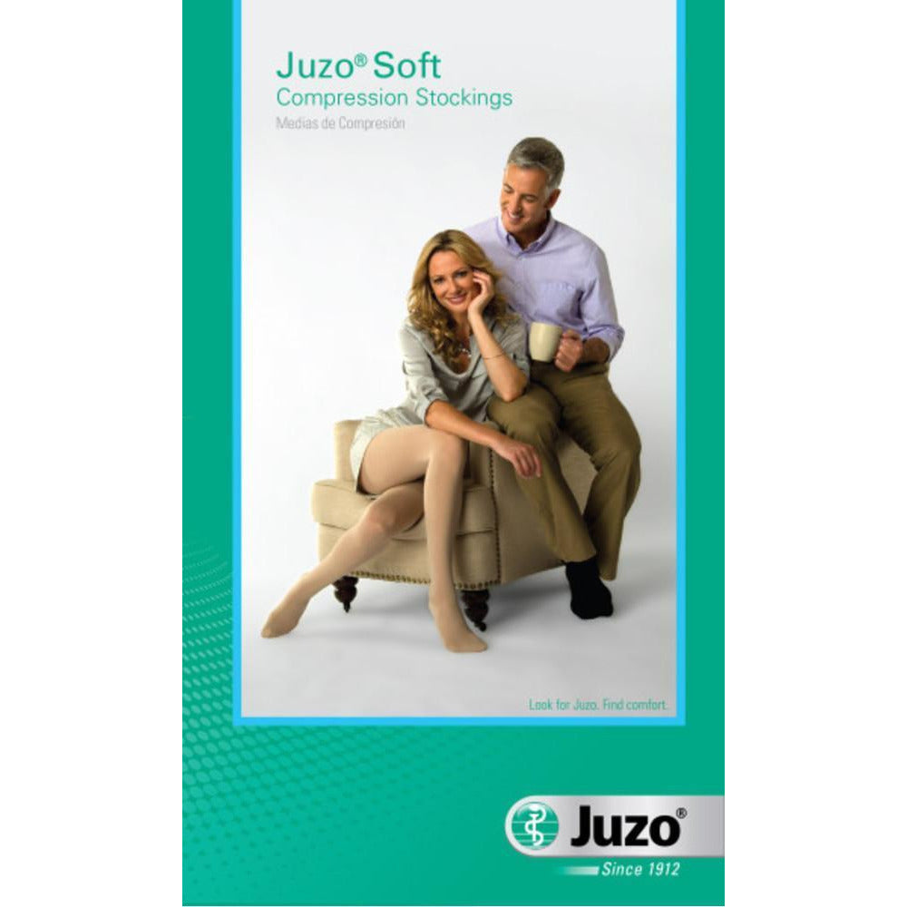 Juzo Soft 20-30 mmHg OPEN TOE Thigh High w/ Hip Attachment