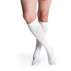 Sigvaris Cotton Men's 20-30 mmHg Knee High, White