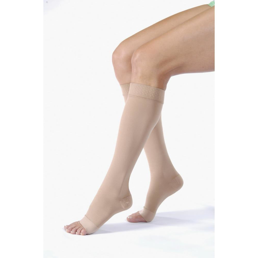 Jobst Relief 30-40 mmHg OPEN TOE Knee High w/ Silicone Top Band