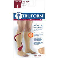 Truform 30-40 mmHg OPEN-TOE Knee High w/ Silicone Dot