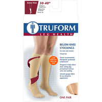 Truform 30-40 mmHg Knee High w/ Silicone Dot Top