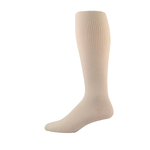 Simcan Comfeez Over-The-Calf Dress Socks, White