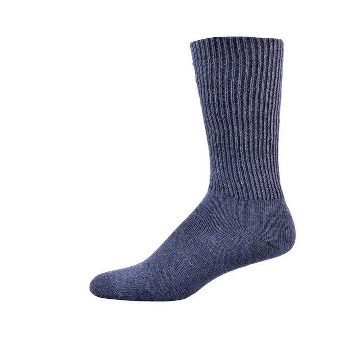 Simcan Comfort Merino Wool Mid-Calf Socks, Denim
