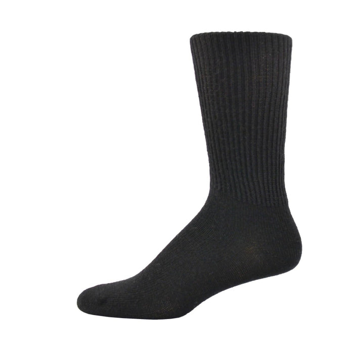 Simcan Comfort Merino Wool Mid-Calf Socks, Black