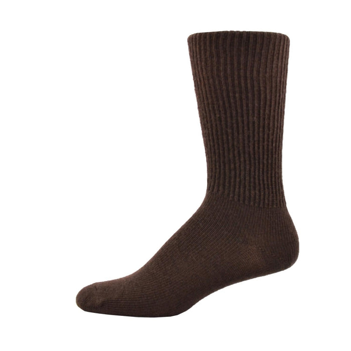 Simcan Comfort Merino Wool Mid-Calf Socks, Brown