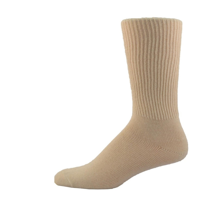 Simcan Comfort Merino Wool Mid-Calf Socks, Natural