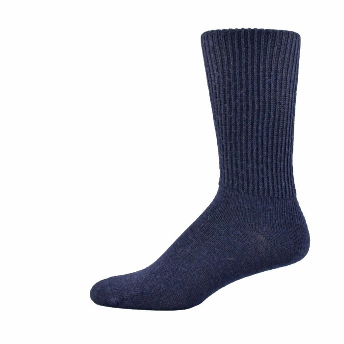 Simcan Comfort Merino Wool Mid-Calf Socks, Navy
