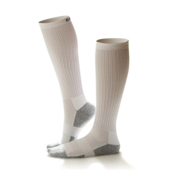 Dr. Comfort Diabetic 15-20 mmHg Knee High Support Socks, White