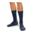 SmartKnit Seamless Diabetic Crew Socks - Navy, XL