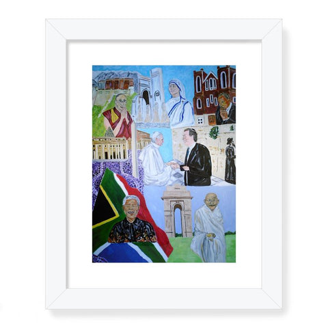 """Moving Forward Together in Peace"" Framed Print - Cece Ell"
