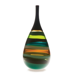 Modern art vase blown glass by siemon & salazar