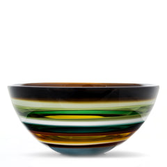 modern natural glass bowl