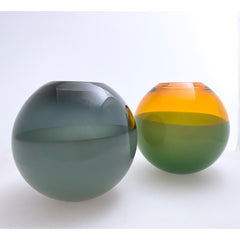 2-banded aurora & forest green deep bowl