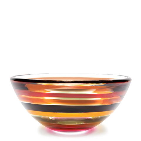 vintage glass bowl, blown glass by siemon & salazar
