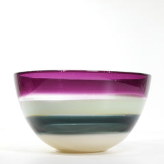 Designer glass bowl