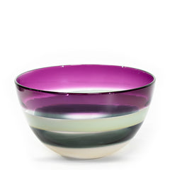 modern glass bowl, amethyst series