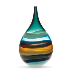 Designer glass vase, blown glass by siemon & salazar