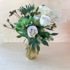 beautiful flowers in vase, wedding decor