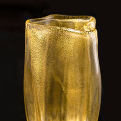 hand blown gold vase