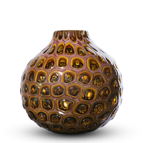 designer collection of glass vases