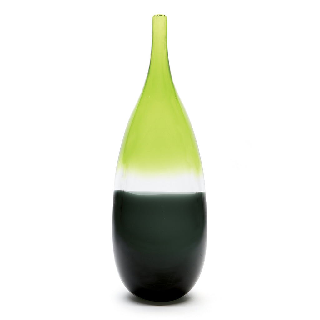 tall glass green bottle