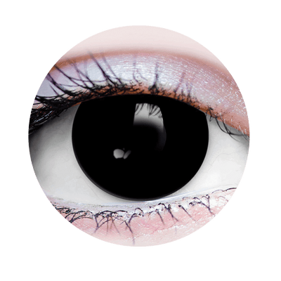 Possessed Black Halloween Costume Contact Lens-Close Up