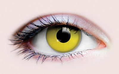 PRIMAL® Raven eye yellow Halloween Costume Contact Lenses