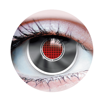 Terminator II - Halloween Costume Contact Lens - Close Up