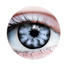 PRIMAL® White Walker color white and black Halloween Costume Contact Lenses-Close up