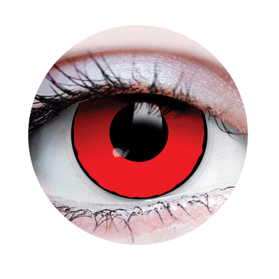 PRIMAL® Blood eye red Halloween Costume Contact Lenses-close up