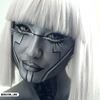 PRIMAL® Gost white and black Halloween Costume Contact Lenses-make up
