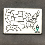 ADRIFT VENTURE US TRAVEL TRACKER MAP PVC MORALE PATCH - Adrift Venture