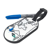 ADRIFT VENTURE WORLD TRAVEL TRACKER MAP GITD PVC LUGGAGE TAG - Adrift Venture