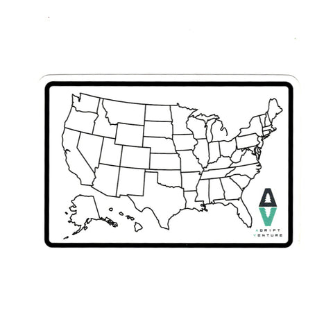 ADRIFT VENTURE US TRACKER MAP STICKER - Adrift Venture