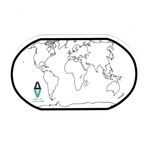 ADRIFT VENTURE WORLD TRACKER MAP STICKER - Adrift Venture