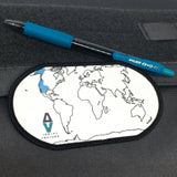 ADRIFT VENTURE WORLD TRAVEL TRACKER MAP MORALE PATCH - Adrift Venture