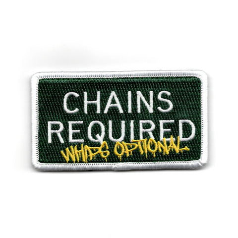 CHAINS REQUIRED LIMITED EDITION MORALE PATCH - Adrift Venture