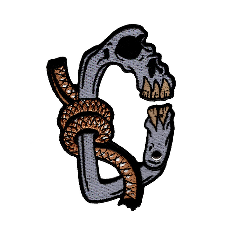 ADRIFT VENTURE SKULL CARABINER LIMITED EDITION MORALE PATCH - Adrift Venture