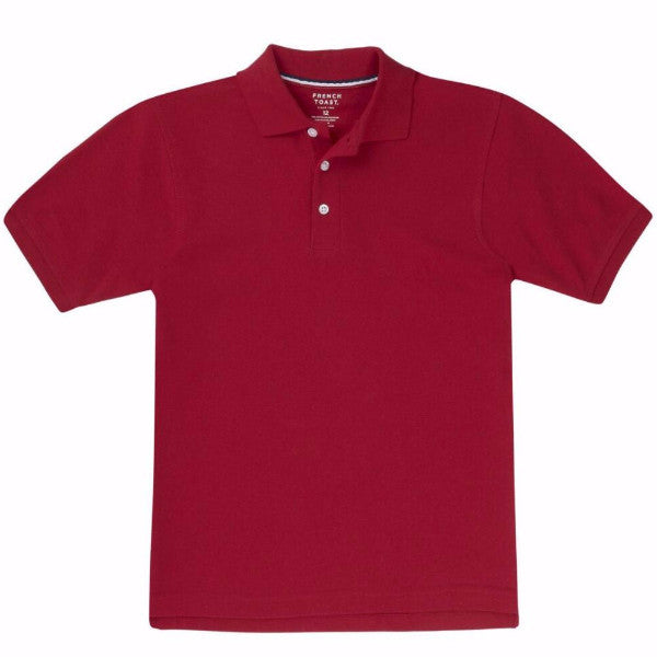 Toddler unisex French Toast pique polo w/GDA logo - Red